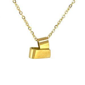לב ציפוי זהב 18k בעיצוב קיפול בעבודת יד
